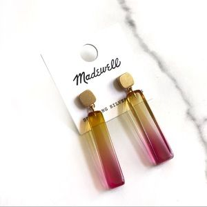 •MADEWELL• Ombré Resin Linear Drop Earrings